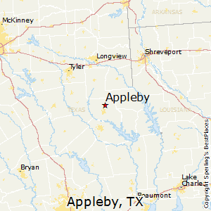 Appleby,Texas Map