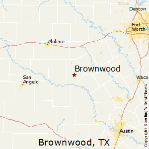 Brownwood,Texas Map