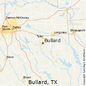 Bullard,Texas Map