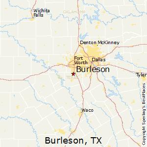 Burleson,Texas Map