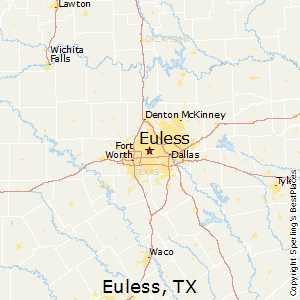 Euless,Texas Map