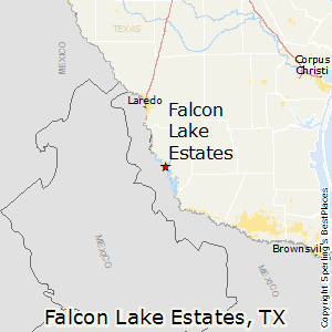 Falcon_Lake_Estates,Texas Map