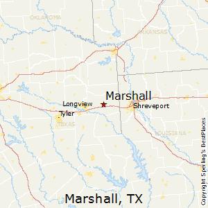 Marshall,Texas Map