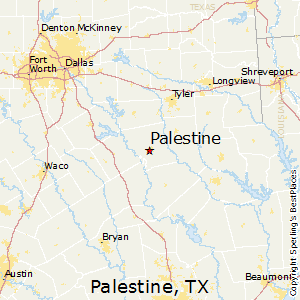 Palestine,Texas Map