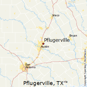 Pflugerville,Texas Map