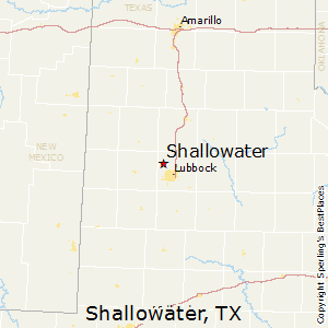 Shallowater,Texas Map