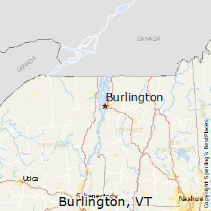 Burlington,Vermont Map