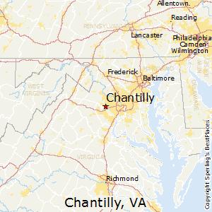 Chantilly,Virginia Map