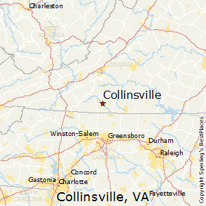 Collinsville,Virginia Map