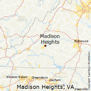 Madison_Heights,Virginia Map