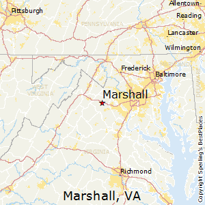 Marshall,Virginia Map