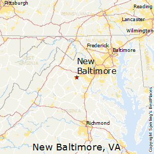 New_Baltimore,Virginia Map