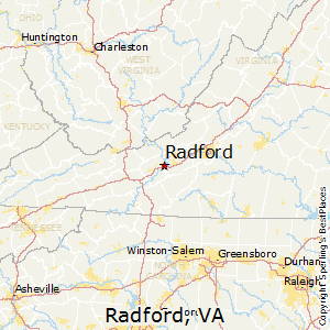 Radford,Virginia Map