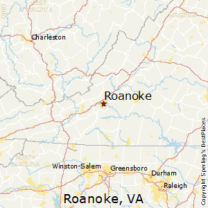 Roanoke,Virginia Map