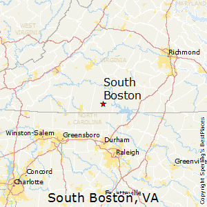 South_Boston,Virginia Map