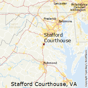 Stafford_Courthouse,Virginia Map