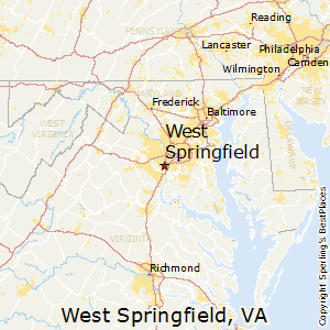 West_Springfield,Virginia Map