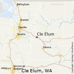 Cle_Elum,Washington Map