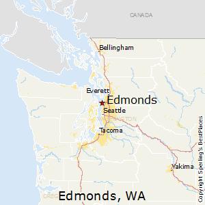 Edmonds,Washington Map