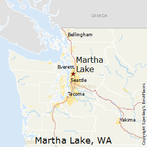 Martha_Lake,Washington Map