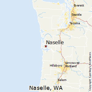 Naselle,Washington Map