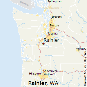 Rainier,Washington Map