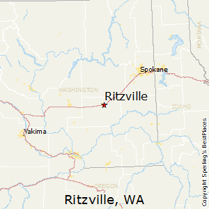 Ritzville,Washington Map