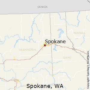 Spokane,Washington Map