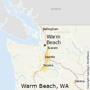 Warm_Beach,Washington Map