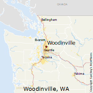 Woodinville,Washington Map