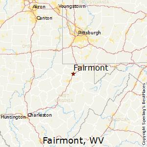 Fairmont,West Virginia Map
