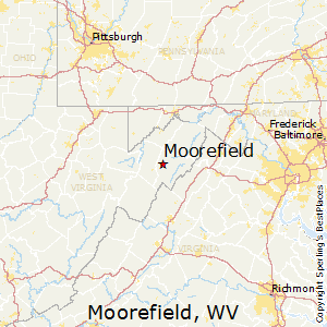 Moorefield,West Virginia Map