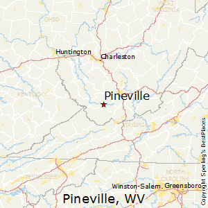 Pineville,West Virginia Map