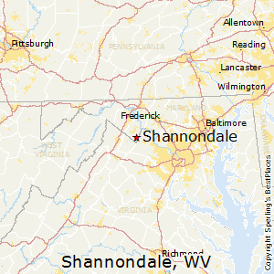 Shannondale,West Virginia Map
