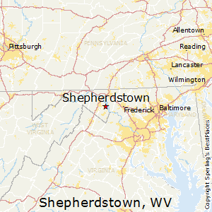 Shepherdstown,West Virginia Map