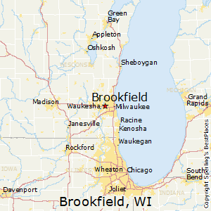 Brookfield,Wisconsin Map