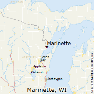 Marinette,Wisconsin Map