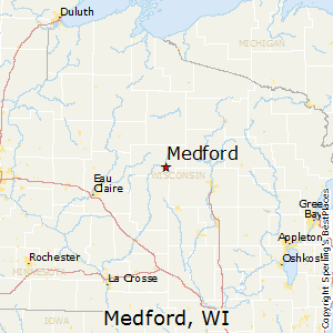 Medford,Wisconsin Map