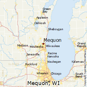 Mequon,Wisconsin Map