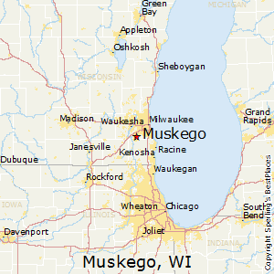 Muskego,Wisconsin Map