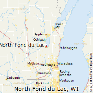 North_Fond_du_Lac,Wisconsin Map