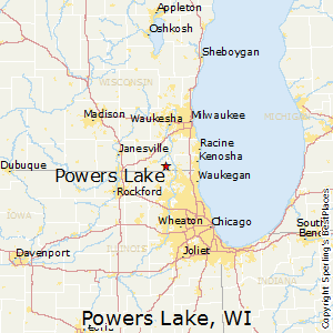 Powers_Lake,Wisconsin Map