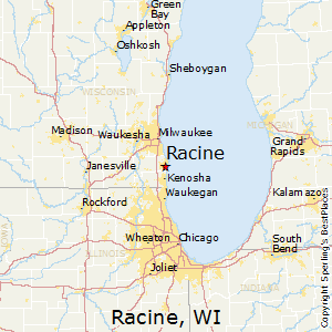 Racine,Wisconsin Map