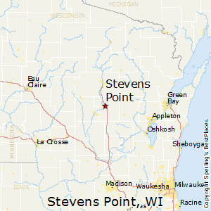 Stevens_Point,Wisconsin Map