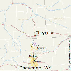 Cheyenne,Wyoming Map