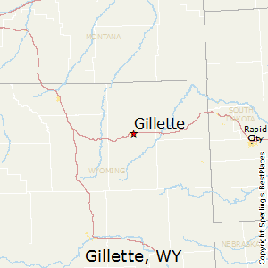 Gillette,Wyoming Map