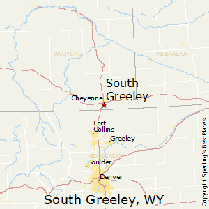 South_Greeley,Wyoming Map
