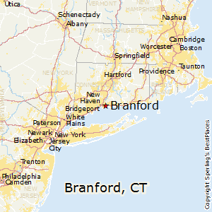 Branford,Connecticut Map