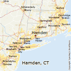Hamden,Connecticut Map
