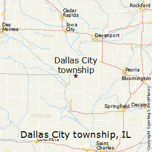 Dallas_City_township,Illinois Map